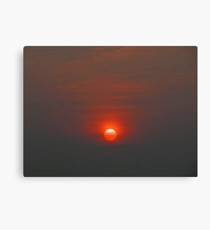 Red ball sunset Canvas Print