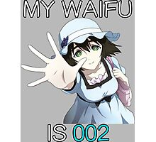 steins gate mayuri my waifu is 002 anime manga shirt Photographic Print