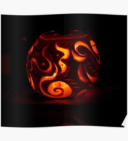Carved Pumpkin Poster