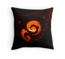 Pumpkin Swirls Throw Pillow
