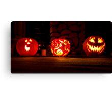Trio of Pumpkins Canvas Print