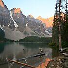 Lake Moraine, sunrise by Philip Kearney