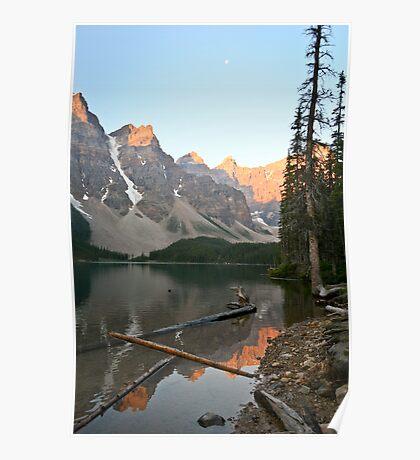Lake Moraine, sunrise Poster