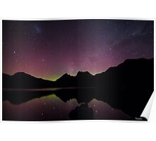 Aurora Austra;is at Cradle Mountain Poster