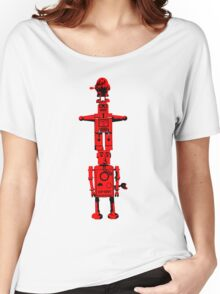 Robot Totem - BiLevel Red Women's Relaxed Fit T-Shirt