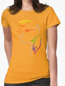 Flash of Rainbows Womens Fitted T-Shirt