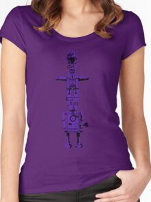 Robot Totem - BiLevel Purple Women's Fitted Scoop T-Shirt