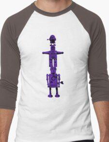 Robot Totem - BiLevel Purple Men's Baseball ¾ T-Shirt