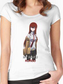 steins gate kurisu makise my waifu is my laifu anime manga shirt Women's Fitted Scoop T-Shirt