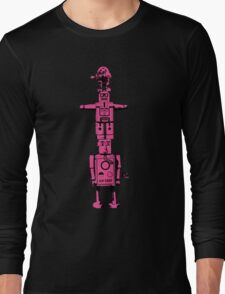 Robot Totem - BiLevel Pink Long Sleeve T-Shirt