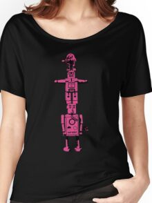 Robot Totem - BiLevel Pink Women's Relaxed Fit T-Shirt
