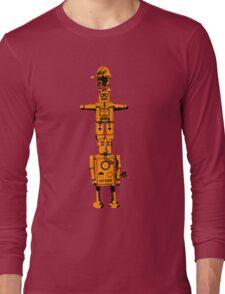Robot Totem - BiLevel Orange Long Sleeve T-Shirt