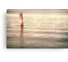 The lonley post - Homebush Bay, Sydney. Canvas Print