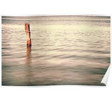 The lonley post - Homebush Bay, Sydney. Poster