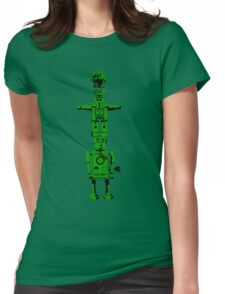 Robot Totem - BiLevel Green Womens Fitted T-Shirt