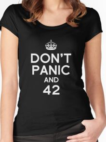 Don't Panic and 42 Women's Fitted Scoop T-Shirt