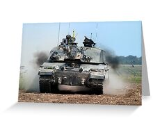 Challenger 2 Main Battle Tank (MBT) British Army Greeting Card