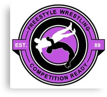 Freestyle Wrestling Competition Ready Suplex Purple  Canvas Print