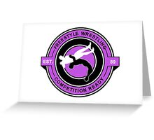 Freestyle Wrestling Competition Ready Suplex Purple  Greeting Card