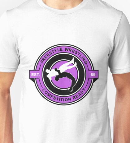 Freestyle Wrestling Competition Ready Suplex Purple  Unisex T-Shirt