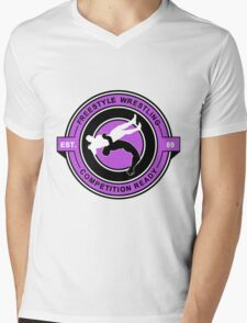 Freestyle Wrestling Competition Ready Suplex Purple  Mens V-Neck T-Shirt