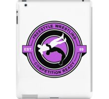 Freestyle Wrestling Competition Ready Suplex Purple  iPad Case/Skin