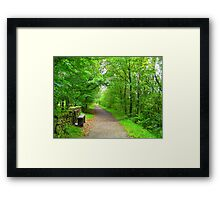 A long way to go  Framed Print