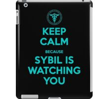 Keep Calm, Sybil is watching you iPad Case/Skin