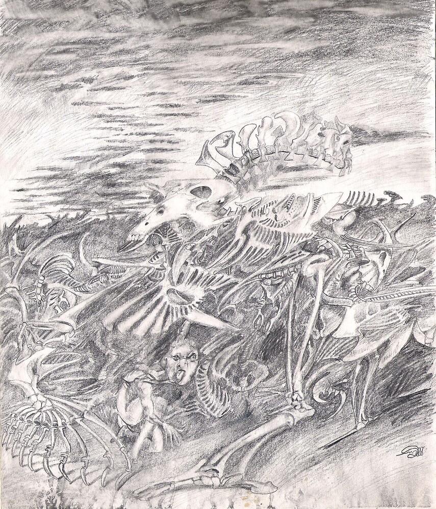 Bones (the drawing) by Davol White