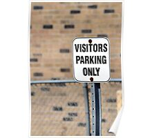 Visitors parking sign. Poster