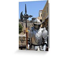 Knight armor. Greeting Card