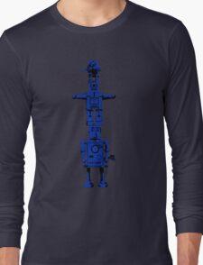 Robot Totem - BiLevel Blue Long Sleeve T-Shirt