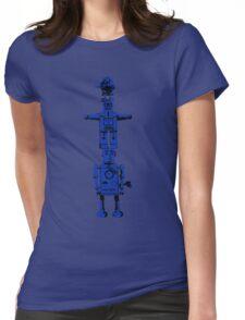 Robot Totem - BiLevel Blue Womens Fitted T-Shirt