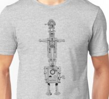 Robot Totem - Line Drawing Unisex T-Shirt