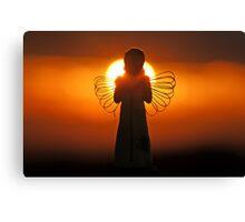 Dawn of an Angel Canvas Print