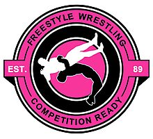 Freestyle Wrestling Competition Ready Suplex Pink  Photographic Print