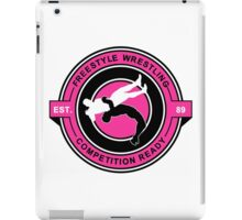 Freestyle Wrestling Competition Ready Suplex Pink  iPad Case/Skin