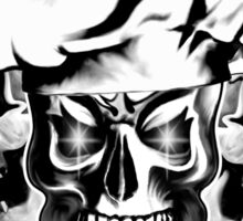 Chef Skull Trio: Culinary Genius (black text) Sticker