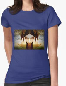 Something in her rises Womens Fitted T-Shirt