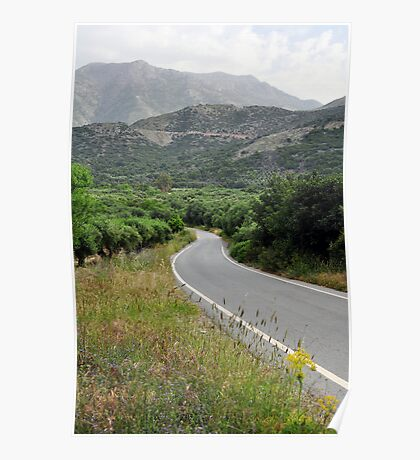 Mountain road. Poster
