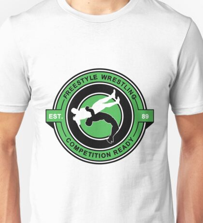 Freestyle Wrestling Competition Ready Suplex Green  Unisex T-Shirt