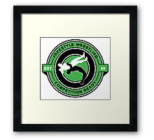 Freestyle Wrestling Competition Ready Suplex Green  Framed Print