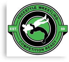 Freestyle Wrestling Competition Ready Suplex Green  Canvas Print