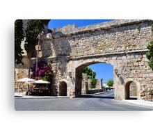 Rhodes old town. Canvas Print