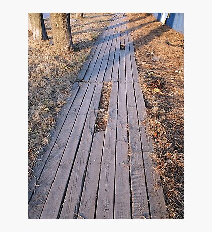Wooden walkway made of planks Photographic Print