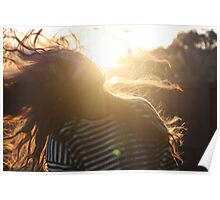 Dynamics- Late Afternoon Sunset Poster