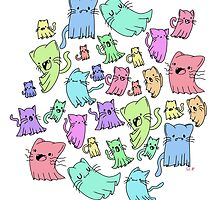 catto ghost party by tatiapparel