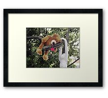 Hanging around with a friend in the garden Framed Print