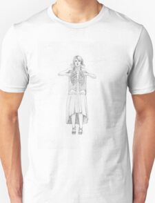 Exposure , Cute Girl with Xray Skelton in dress T-Shirt