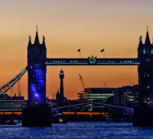 The Opening of Tower Bridge at Sunset on 30th September 2015 Sticker